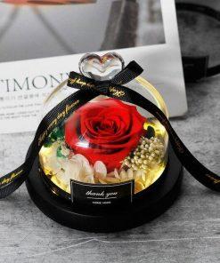 Rose Éternelle Lumineuse Rouge